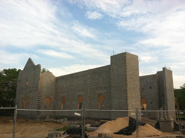 Construction Progress at St. Mary Church +  Hunt Valley, MD