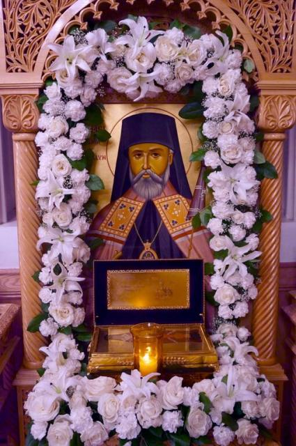 Festal icon of St. Raphael at St. Nicholas Cathedral, Nov. 6-7, 2015