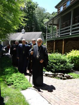 Metropolitan Philip Blesses the Convent of St. Thekla