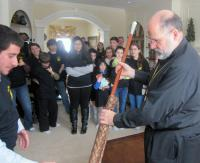 Bishop John presented with walking staff