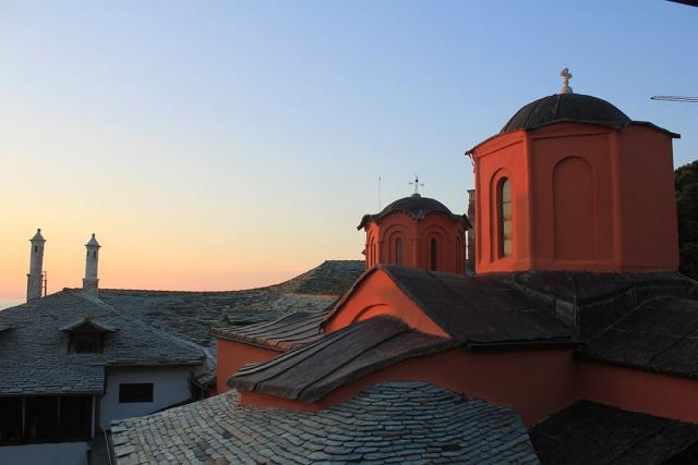 Sunset at Xenophontos