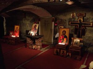 Holy Resurrection Orthodox Church's basement venue in Sweden