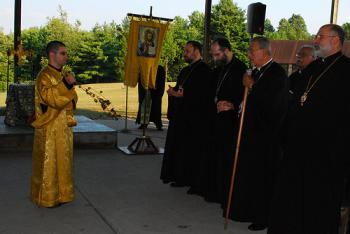 Clergy Symposium Vespers at the Village Camp