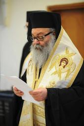 Patriarch John X Presides Over His First Synod Meeting