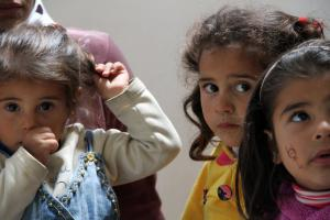 These young Syrian sisters and their mother sought refuge at a camp located far from the intensifying violence in Syria. More than half of Syria's refugees are children, and in great need of basic care items. (Photo: UNHCR/F. Juez)