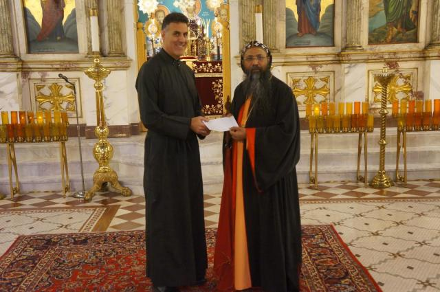 His Eminence Metropolitan Alexios Mar Eusebius with Archpriest Thomas Zain, Vicar General