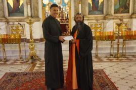 His Eminence Metropolitan Alexios Mar Eusebius with Archpriest Thomas Zain, Vicar General