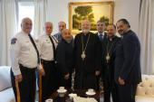 Metropolitan Joseph with local law enforcement officials