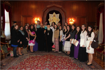 Real Break students with Patriarch Bartholomew
