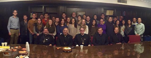 University of Michigan OCF students with Bishop Anthony, November 2016