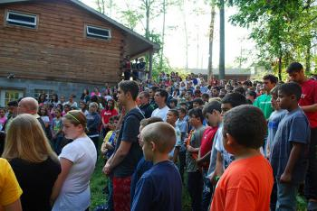 Morning prayers at Antiochian Village camp