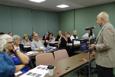 "Gerry Clonaris teaches the class ""Weaving Adult Education into the Parish"""